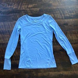 Gap Breathe Blue Long-Sleeved Top Thumbholes XS